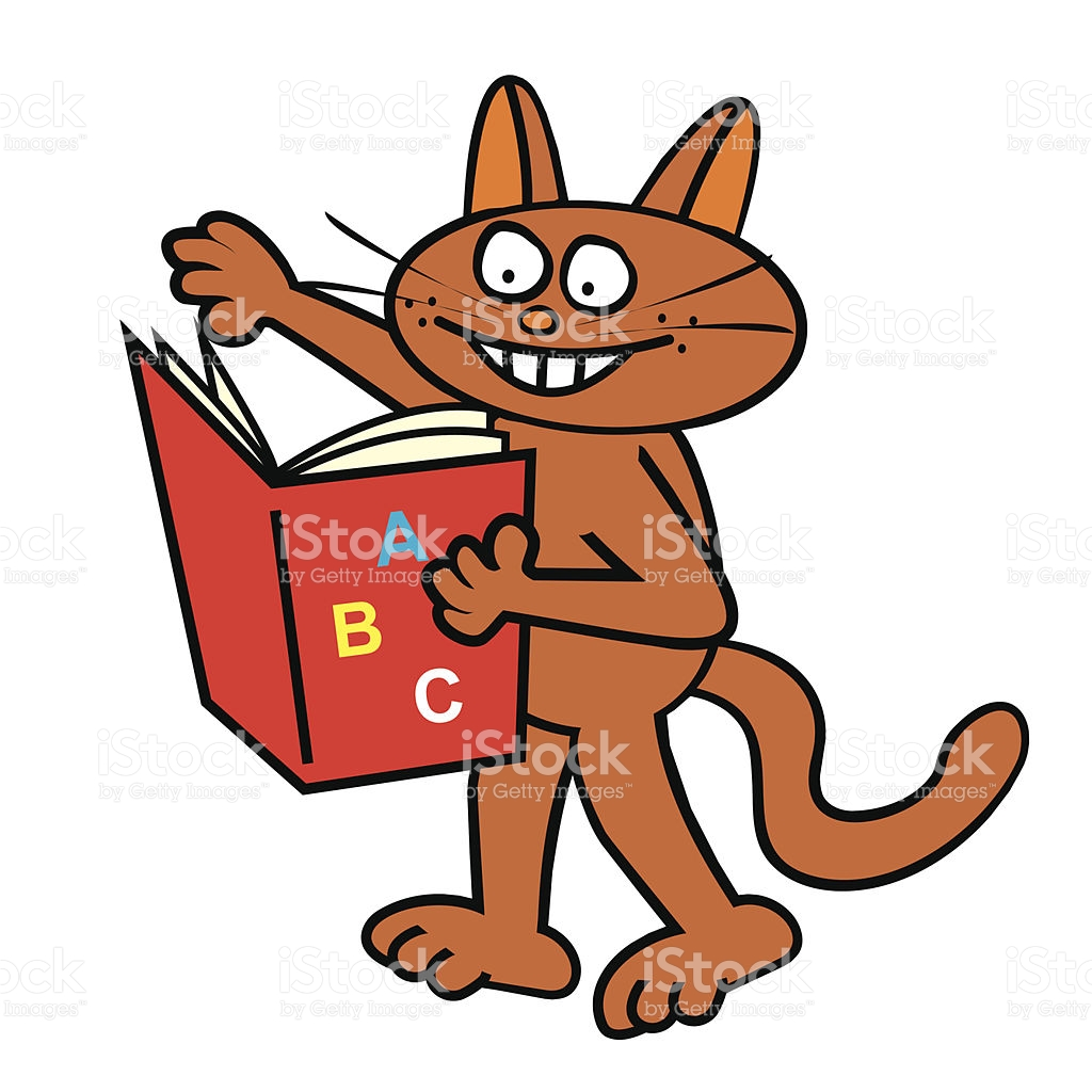 Tomcat And Book stock vector art 507545091.