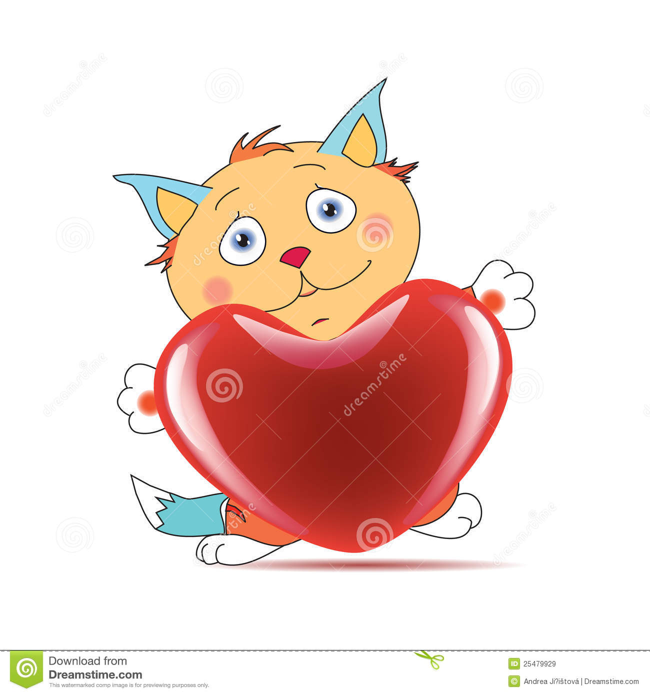 Tomcat In Love Royalty Free Stock Images.