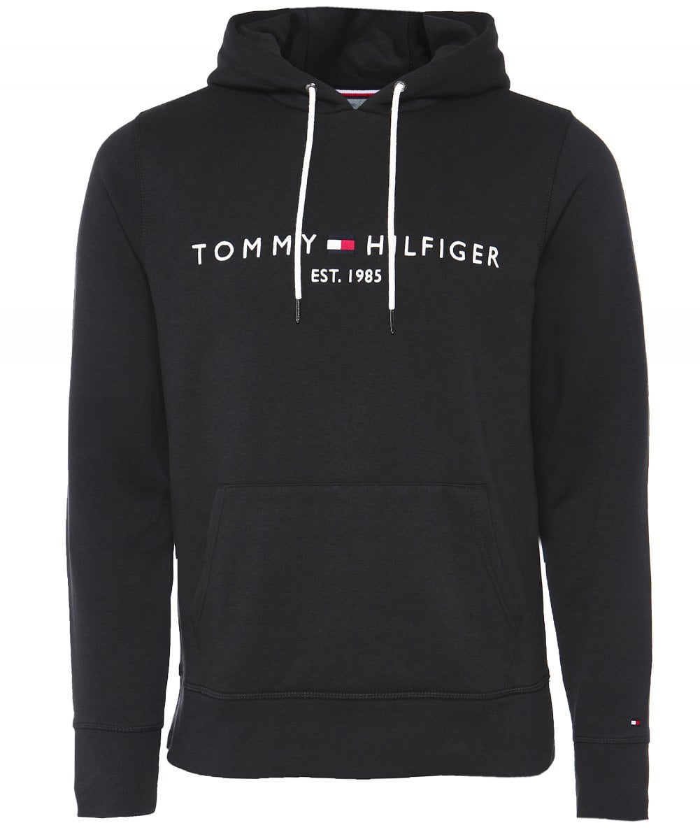 Tommy Hilfiger Jersey Logo Hoodie.