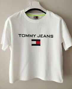 Details about Tommy Hilfiger Tommy Jeans 90's Capsule Collection Women's  Top Big Logo T.