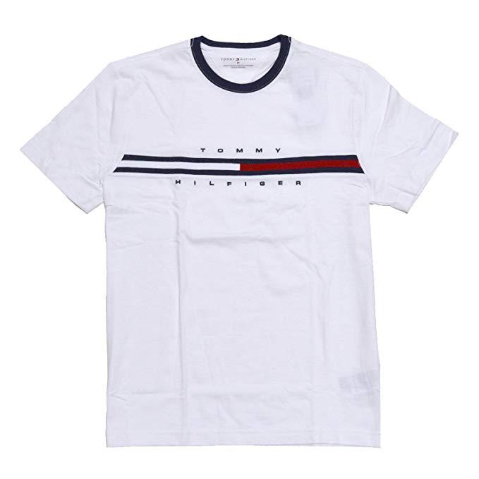 Tommy Hilfiger Men\'s Short Sleeve Crewneck Logo T Shirt.