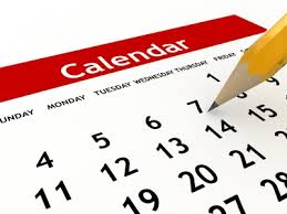 Calendar revision clipart.