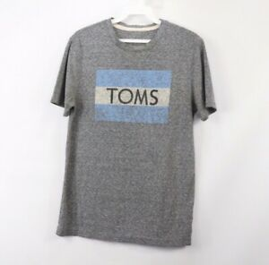 Details about Toms Shoes Mens Small Spell Out Flag Logo Tri.