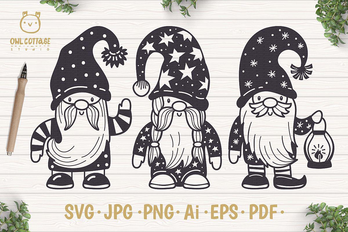 Scandinavian Gnomes SVG, Gnome Clipart, Tomte.