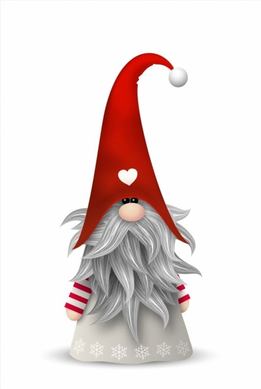Poster of Scandinavian christmas traditional gnome, Tomte.