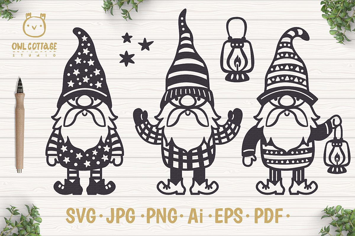 Scandinavian Gnomes SVG, Gnome Clipart, Tomte.