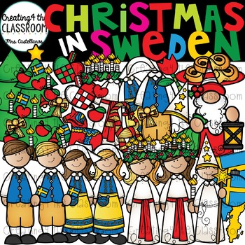 Christmas in Sweden Clipart {Saint Lucia Day Clipart}.