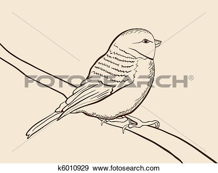 Clip Art of Hand drawn tomtit k6010929.