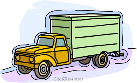 5 ton truck Royalty Free Vector Clip Art illustration.