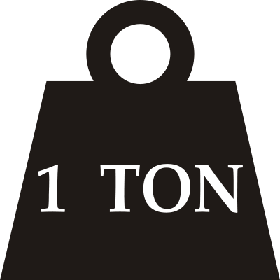 Ton weight clipart.