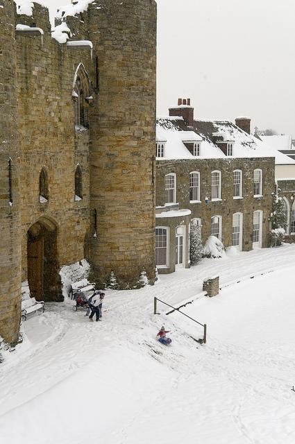 Tonbridge Castle, Kent, was built shortly after the Norman.