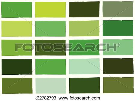 Clipart of Green Tone Color Shade Background k32782793.