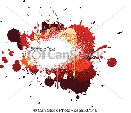 Clip Art Vector of Red tone color splash on white csp9587516.