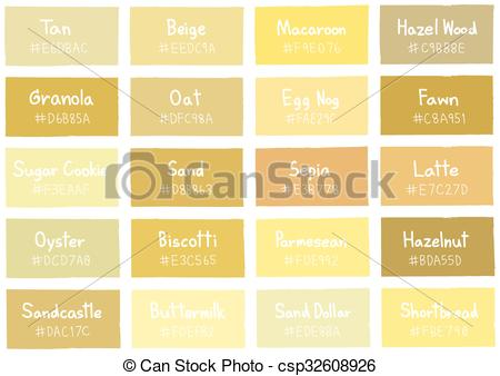 Vector Illustration of Tan Tone Color Shade Background with Code.
