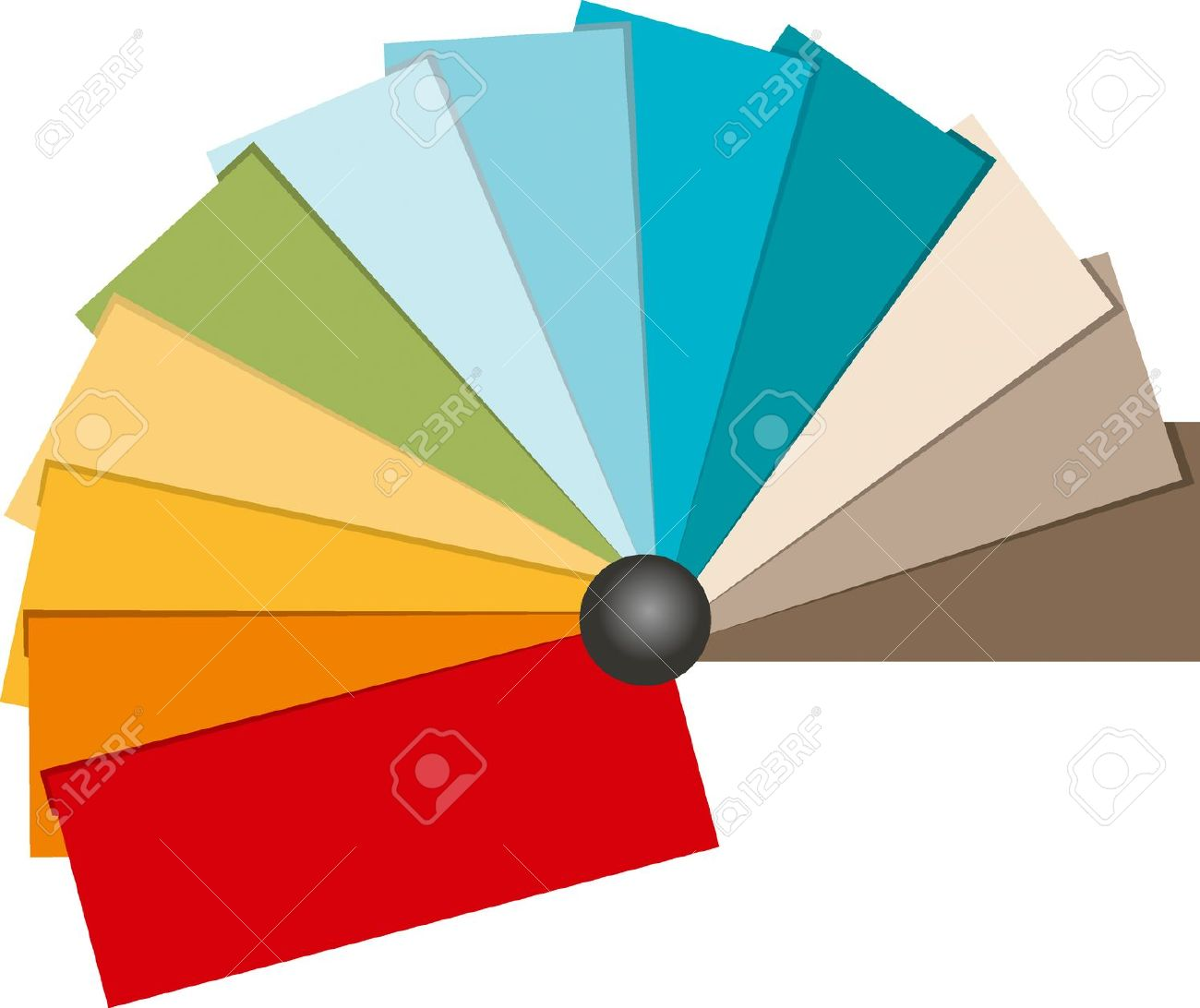 Color Swatch Illustration. Beach Tone Color. Royalty Free Cliparts.