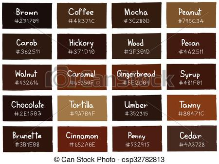 Vector Clip Art of Brown Tone Color Shade Background with Code and.