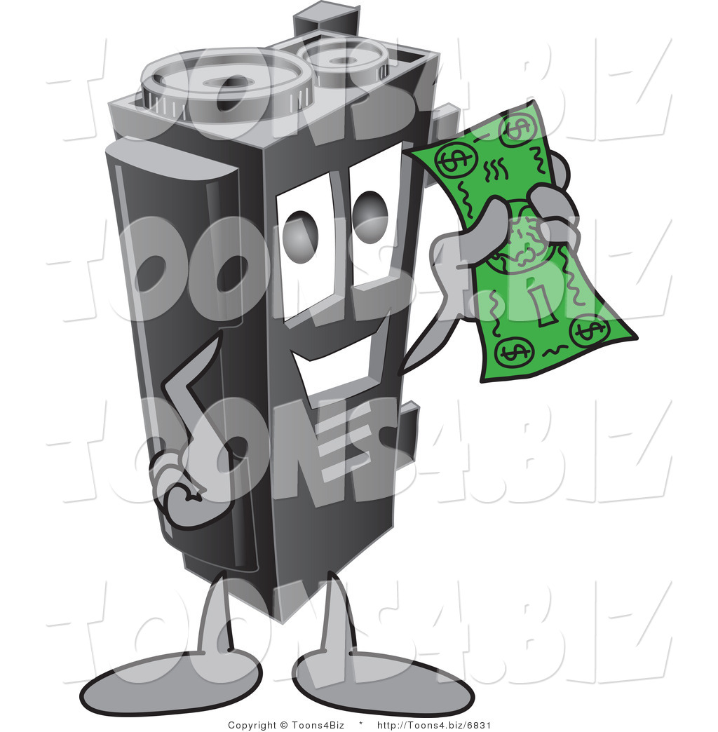 Vector Illustration of a Cartoon Toner Ink Cartridge Mascot.