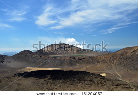 Tongariro Alpine Crossing Stock Photos, Images, & Pictures.