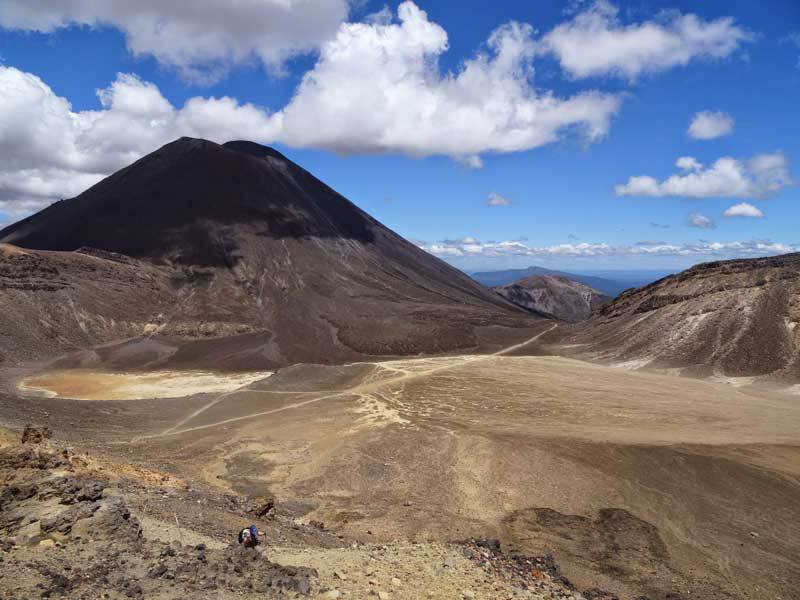 Hiking the Tongariro Alpine Crossing.