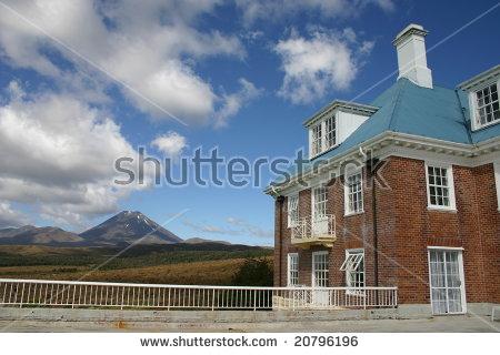 Chateau Tongariro Stock Photos, Royalty.