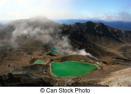 Stock Image of Emerald Green Lake.