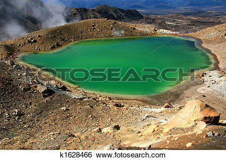Stock Images of Emerald Green Lake.