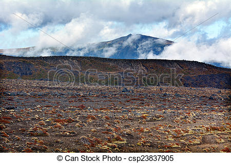 Stock Photography of Landscape of Tongariro National Park.