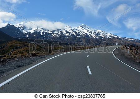 Stock Image of Tongariro National Park.