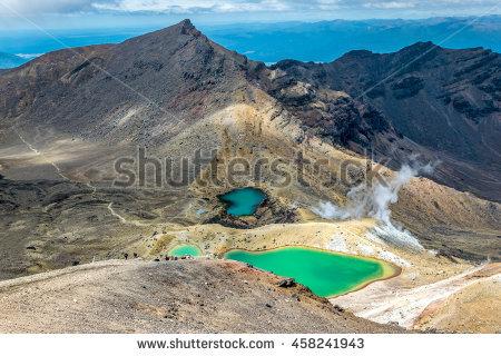 Tongariro National Park Stock Photos, Royalty.