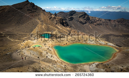 Tongariro Crossing Stock Photos, Royalty.