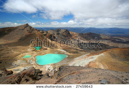 Tongariro National Park Stock Photos, Royalty.