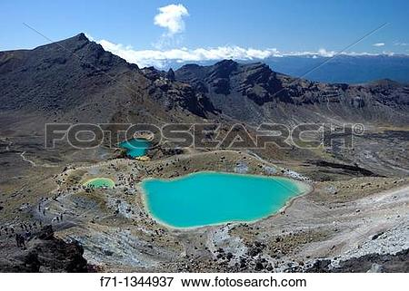 Picture of Emerald Lakes, Tongariro National Park The colour is.