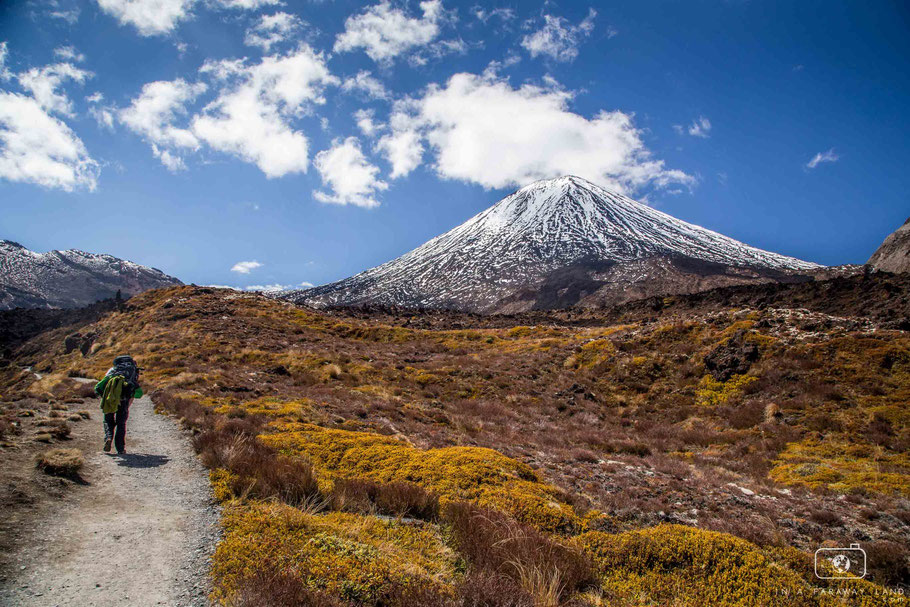 Hiking the Tongariro Northern Circuit.