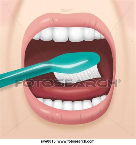 Brush Tongue Clipart.