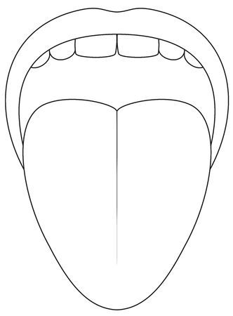 Tongue clipart black and white 8 » Clipart Portal.