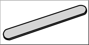 Clip Art: Medicine & Medical Technology: Tongue Depressor.