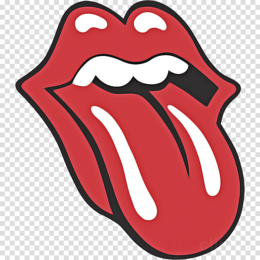 red cartoon mouth lip tongue clipart.