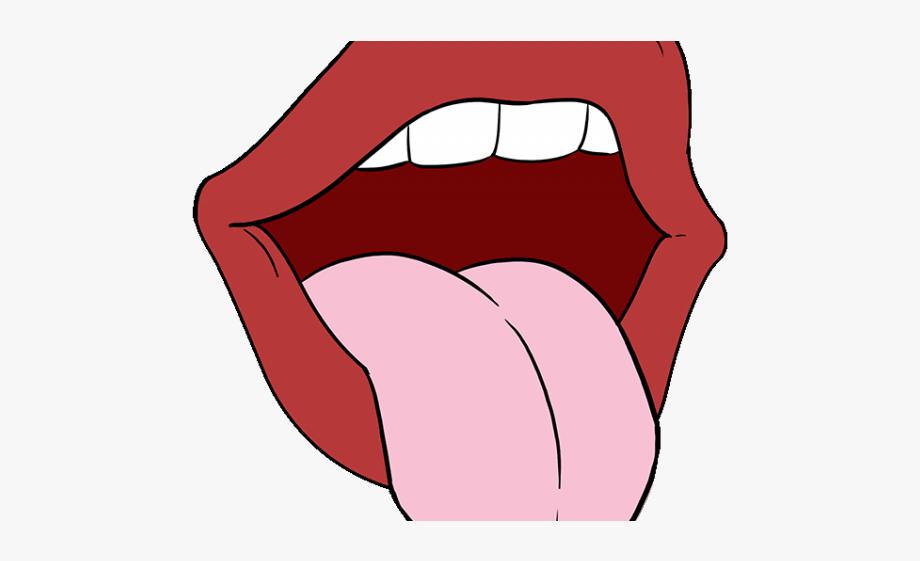Drawn Tongue Lip Tongue.
