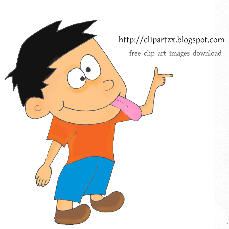 Sticking Tongue Out Clipart.
