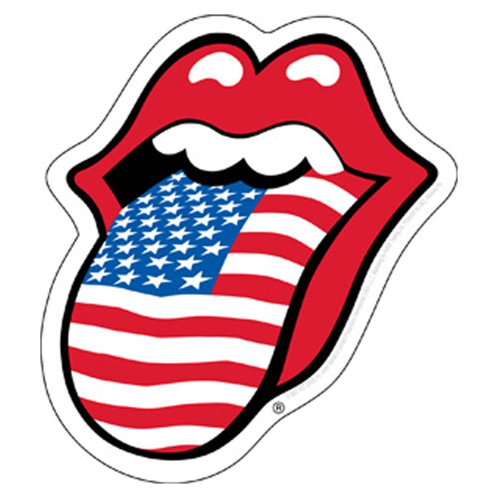 The Rolling Stones USA Tongue Sticker.