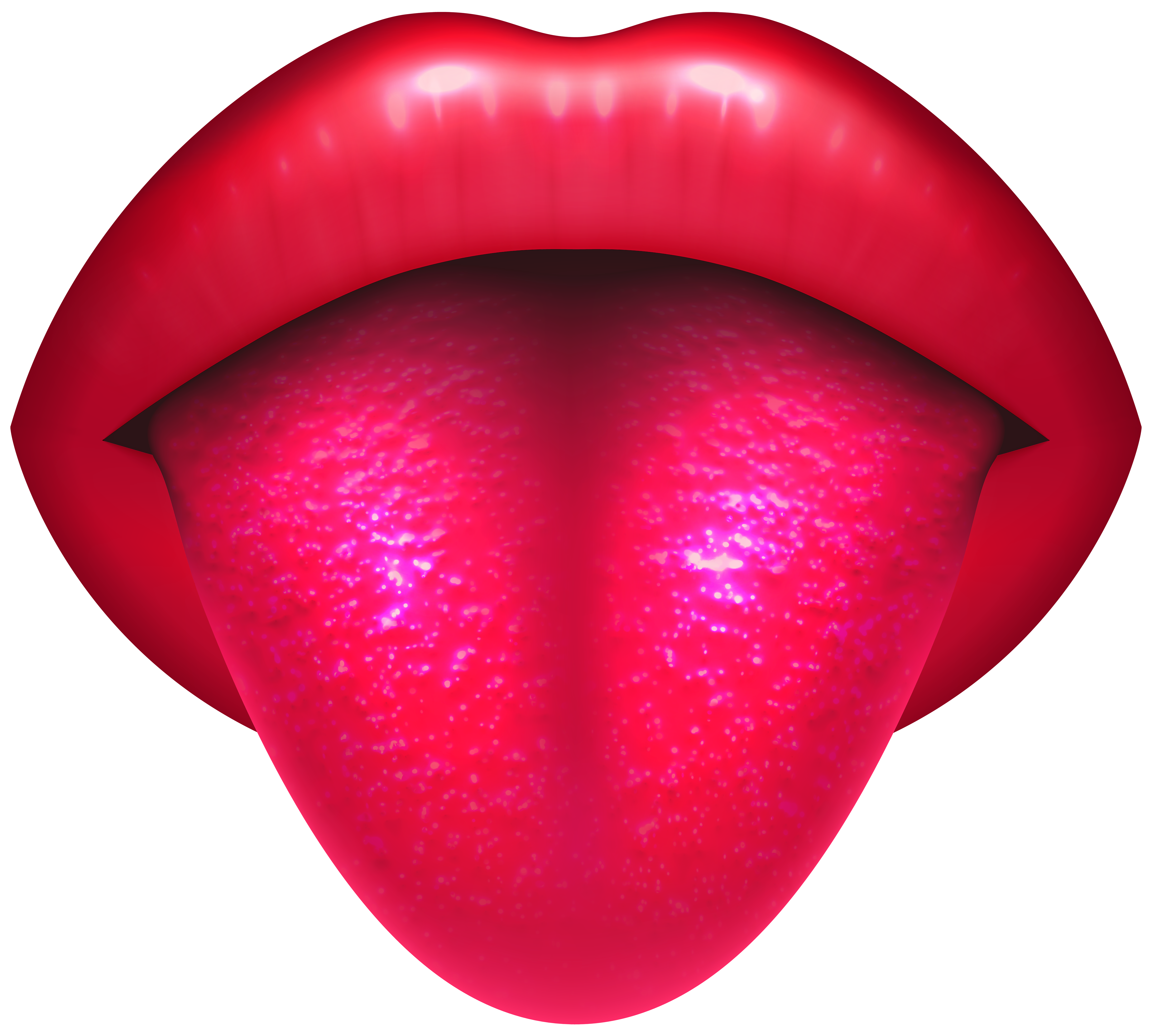 Mouth with Protruding Tongue PNG Clip Art.