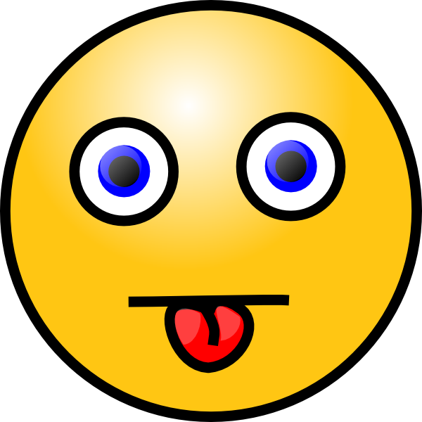 Smiley With Tongue Out Clip Art at Clker.com.