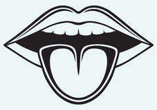Clipart black and white tongue.