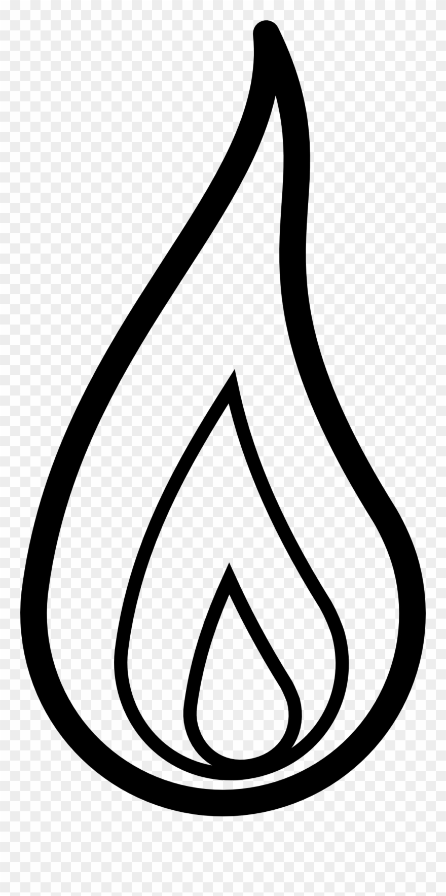 Fire Flames Clipart Black And White Free Clipart.