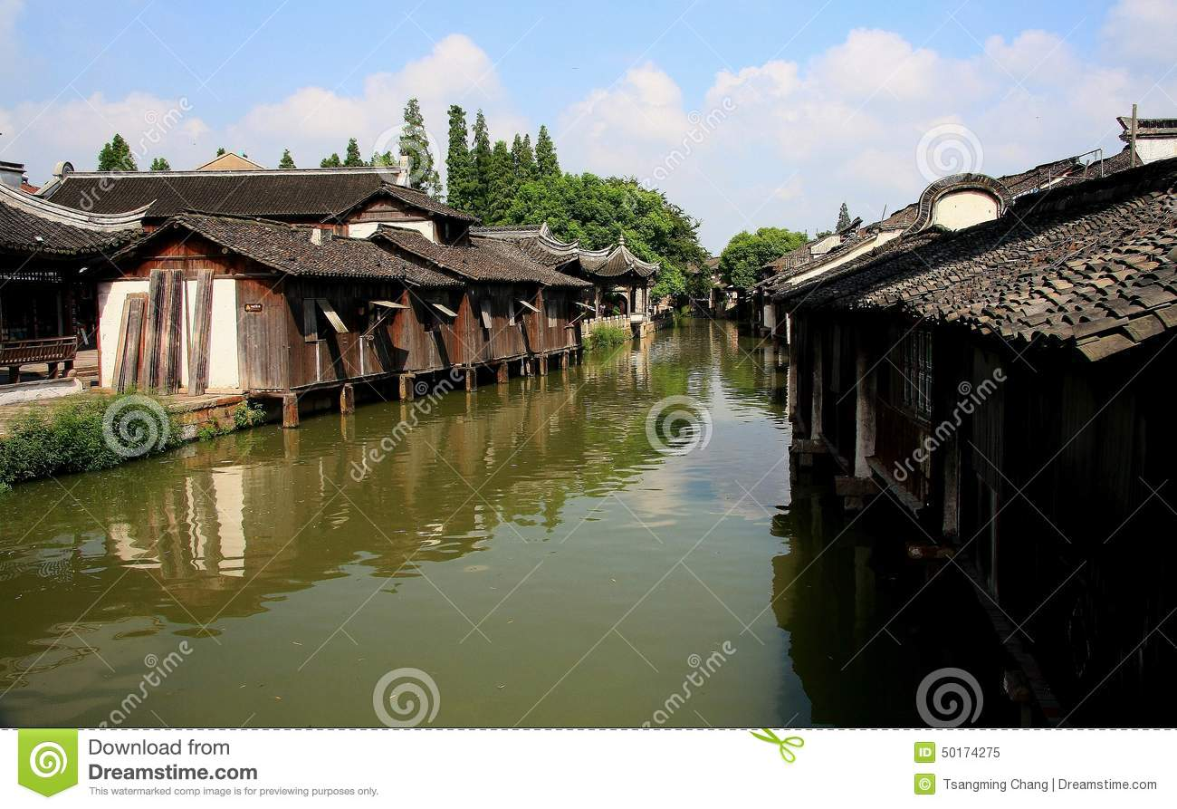 The Ancient Town Of Wuzhen,Tongxiang,Zhejiang,China Stock Photo.