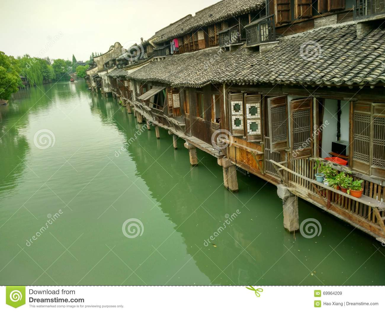 China Wuzhen, Tongxiang City, Zhejiang Province Stock Photo.