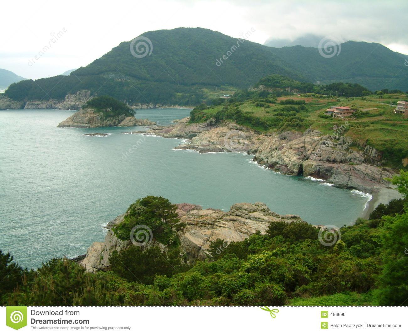 Coastline In Hallyeo Haesang NP Near Tongyeong, Gyeongsangnam.