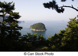 Stock Photography of Beautiful landscape in South Korea,Tongyeong.