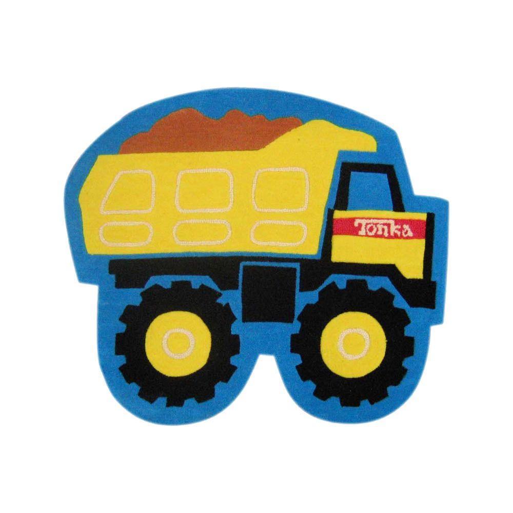 Tonka Mighty Dump Truck 38 in. x 52 in. Kids Rug.