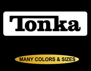 Details about Large Tonka Truck Decal Vinyl Logo Graphic Sticker Window  Bumper Body Hood Jeep.